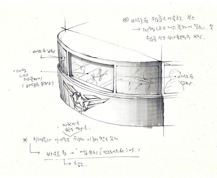 공군 작전 사령부 전시장 부스 디자인 rough sketch 2