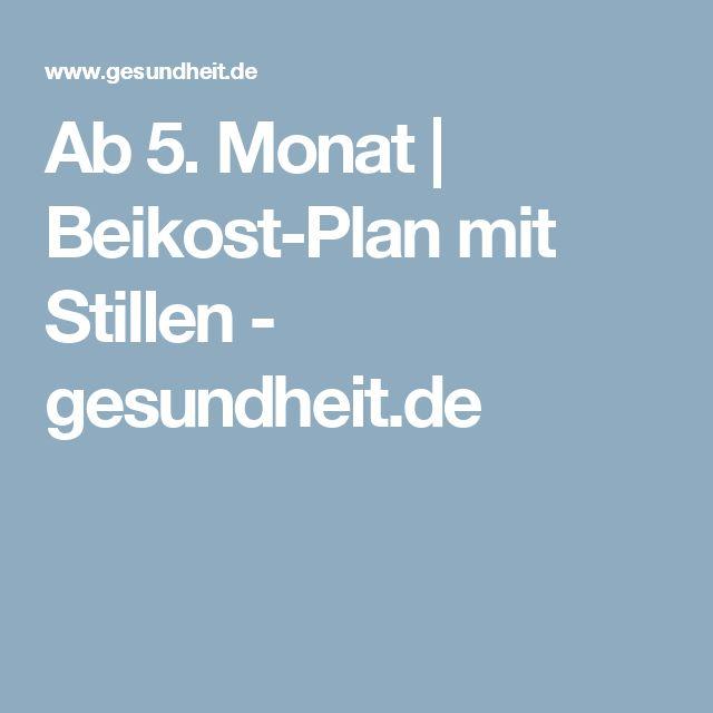 Ab 5. Monat | Beikost-Plan mit Stillen - gesundheit.de