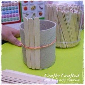 Flower pot pencil holder crafts for kids pinterest for Flower pot made by waste material