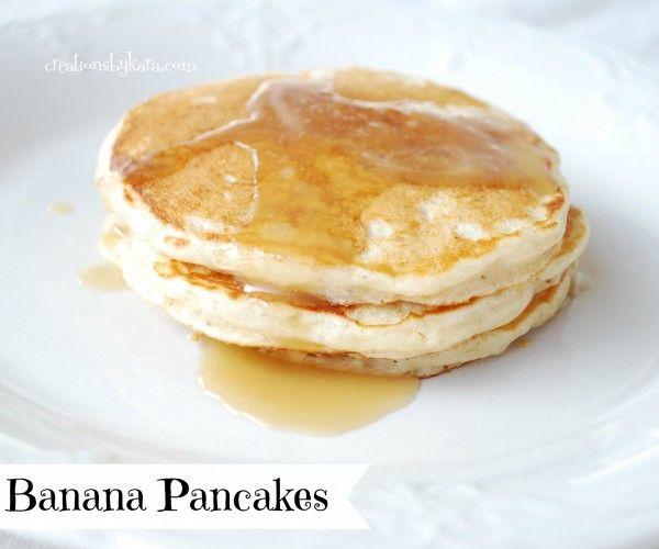 Banana Pancakes from creationsbykara.com. My family loves these ...