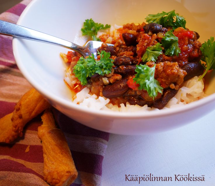 Kääpiölinnan köökissä: Maukas chili con carne