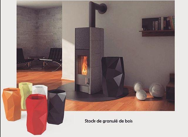 Woodbox  #designinterior #stove #box #designer #decoration #poele #deco