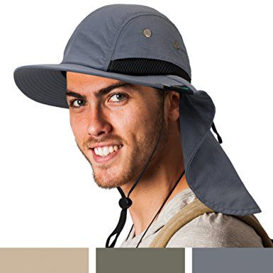 1f4b042f44945 SUN CUBE Fishing Sun Hat for Men with Neck Cover Flap