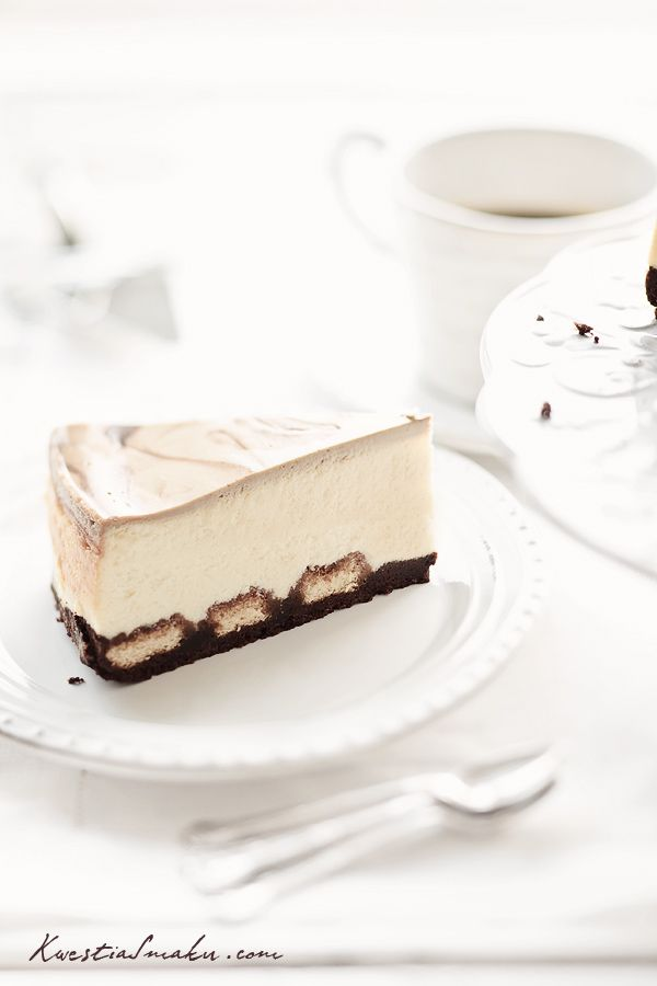 Tiramisu Cheesecake - cheesecake with coffee.  cheesecake on biscuits