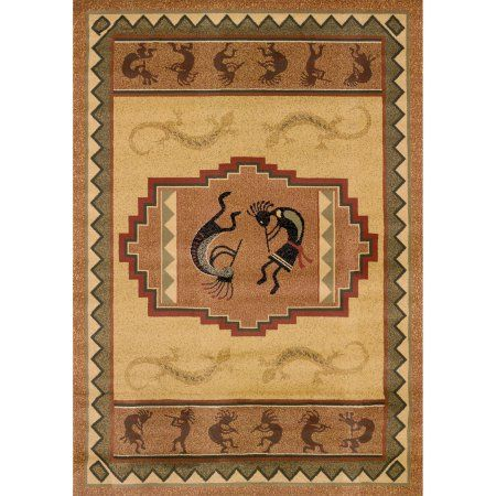 United Weavers Big Timber Ancient Music Natural Woven Polypropylene Area Rug or Runner, Multicolor