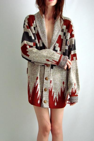 vintage Navajo sweater-coat