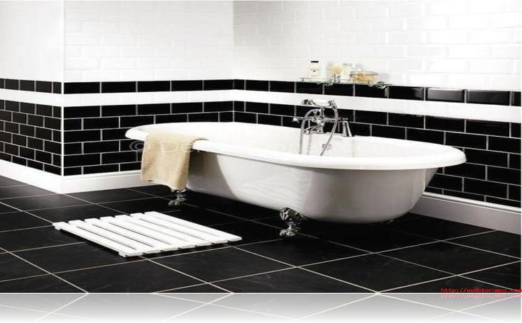 En Yeni siyah beyaz banyo