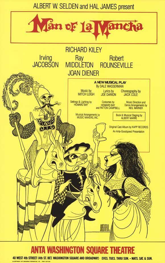 Man Of La Mancha 11x17 Broadway Show Poster (1965)