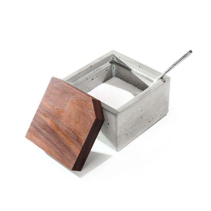 Bath Salts Cellar - Milton Concrete Box   dotandbo.com