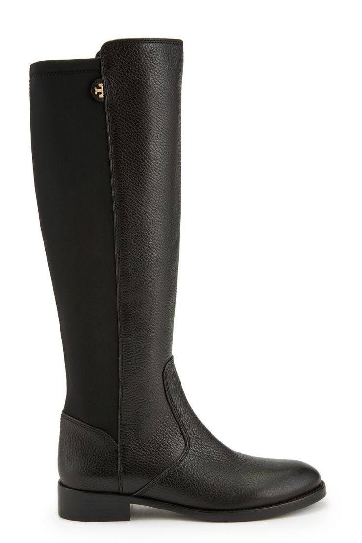 Tory Burch Selden Riding Boot: Tall, lean, comfortable and classic, a black knee-high boot is essential to any fall wardrobe #torybootcamp