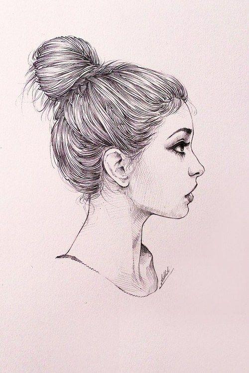 Art Draw Girl Hair Sad Surprise Tumblr Art Pinte