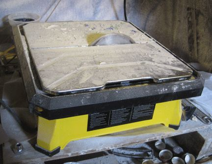 Make a bench polisher from old tile saw - from Glass With A Past
