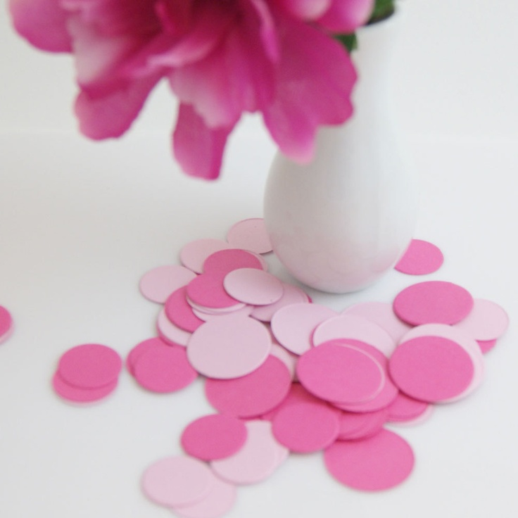 Table Confetti -- Pick your colors - DIY Party Table Decorations - Paper Dots. $5.50, via Etsy.
