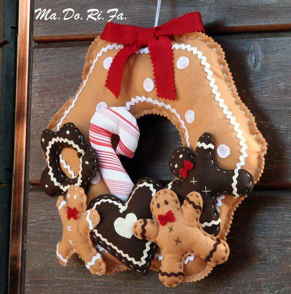 """Ghirlanda natalizia """"gingerbread"""""""