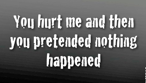 Just. Like. That. Why? Some people don't know what a broken heart feels like. They think you'll just get up the next day and be fine. Guess what... No.