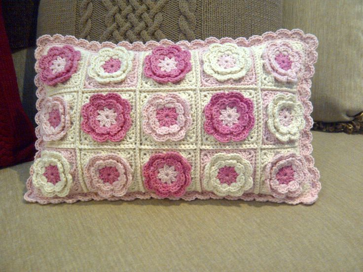 Crocheted cushion for my granddaughter