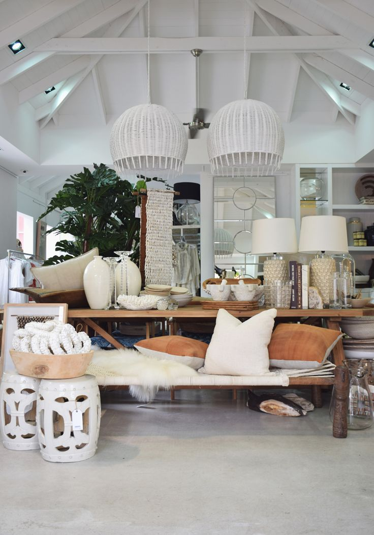 Brisbane St Barts's current relaxed and elegant interior style. Pendant lights, plush soft furnishings and Chinese ceramics mix in various shades of neutrals.