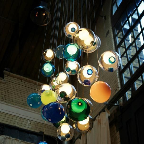 Bocci Glass Ball Pendant Lamp Chandelier Glass Spheres Modern Lamp Color Bubble 12/15/19/25 Head LED Crystal Chandeliers Online with $109.53/Piece on Ok360's Store   DHgate.com