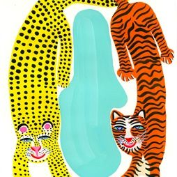 Cartoon illustration of cheetah and tiger illustration by Christopher Corr