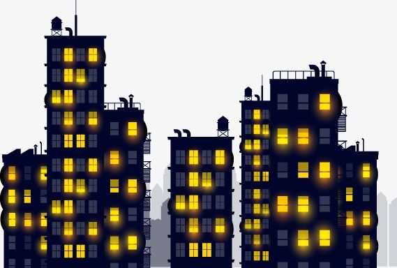 Cartoon Night Buildings Cartoon Vector Cartoon Night View Png And Vector With Transparent Background For Free Download Cartoons Vector Building Cartoon