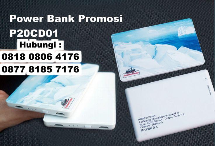 Power bank Plastik Tipis 2000MAH P20CD01, Power bank Card 2000mAh H-P20CD01, Power Bank Promosi P20CD01, Power Bank Slim Card Plastik 2000 mAh (Kode P20CD01)