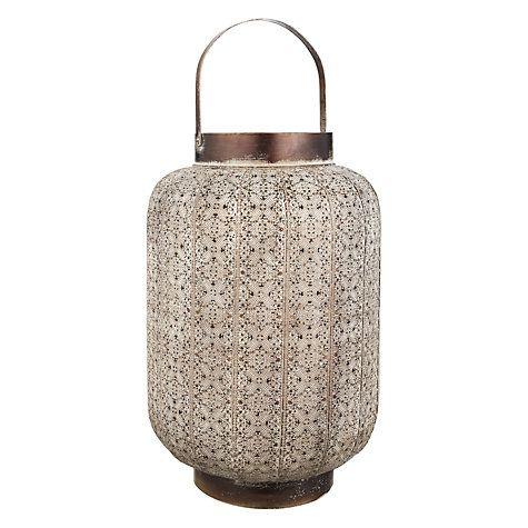 Buy John Lewis Filigree Hurricane Candle Holder, Large Online at johnlewis.com #FashionYourHome perfect ambience