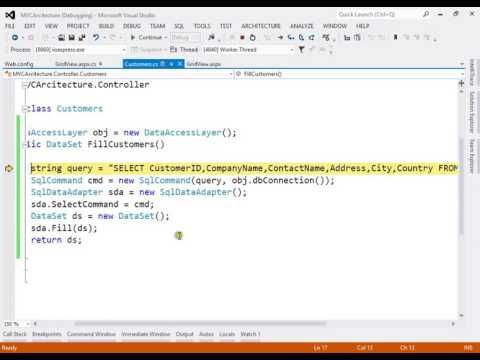 ASP.NET MVC architecture with stored procedures step by step tutorial