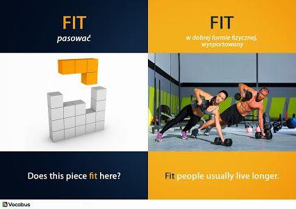 Angielskie słówka: FIT, dwa ważne znaczenia FIT - pasować FIT - sprawny fizycznie, wysportowany http://www.vocabus.pl/