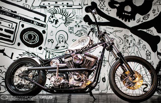 """Indian Larry Motorcycles """"White Devil"""""""
