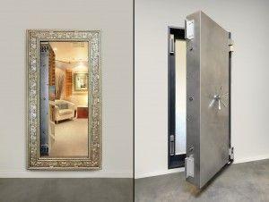 Secure Hidden Room Behind Custom Mirrored Vault Door