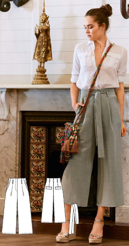 Pleated Culottes Burda Feb 2017 http://www.burdastyle.com/pattern_store/patterns/pleated-culottes-022017