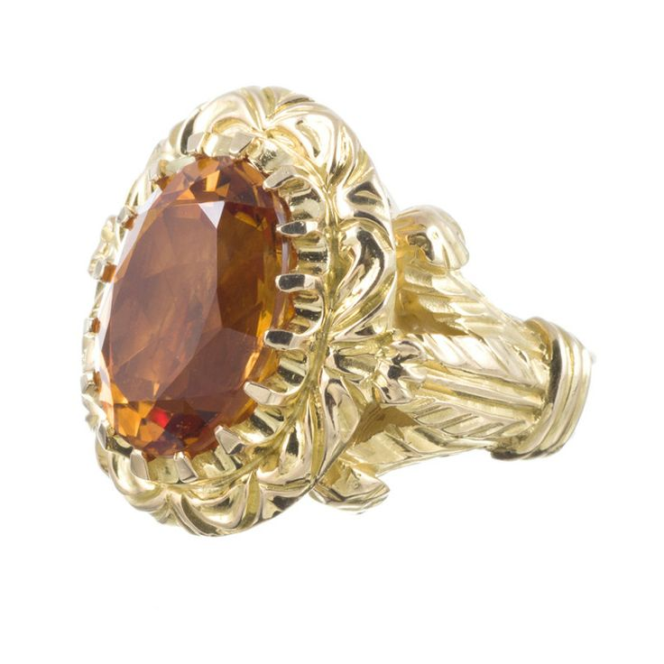 Bishop's Ring 13 carat Citrine   From a unique collection of vintage more rings at http://www.1stdibs.com/jewelry/rings/more-rings/