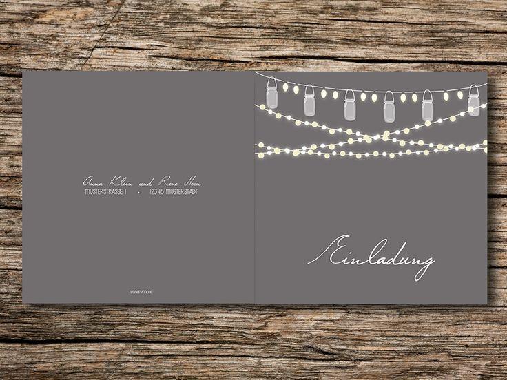 Einladungskarten - Hochzeitseinladung SET 'Lampions' - ein Designerstück von Invitino bei DaWanda