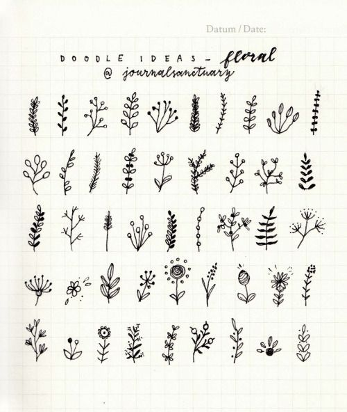 journalsanctuary: Doodle ideas 2 - floralI've been drawing... | Bullet journal inspiration | Bloglovin'