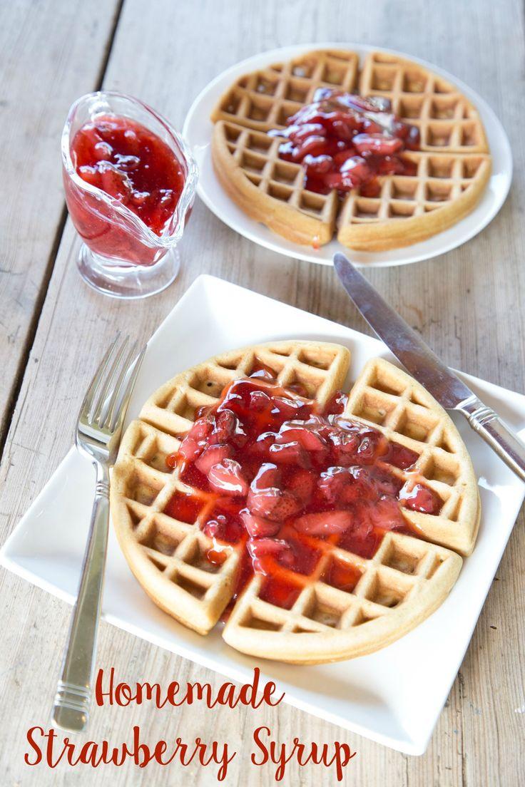 Homemade Strawberry Syrup Recipe | 5DollarDinners.com