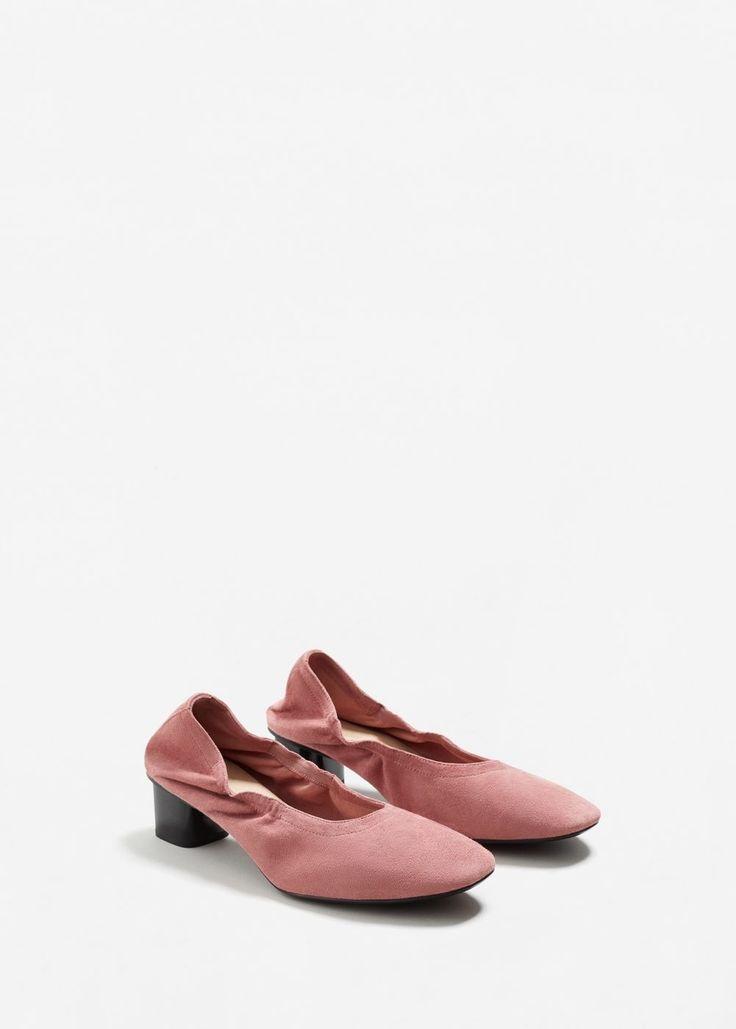 Elastic leather shoes - Women | MANGO USA