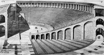 Palazzo Vecchio poggia le sue fondamenta su un sito di straordinaria importanza storica: i resti dell'antico Teatro Romano di Florentia. Disegno di Corinto Corinti 1865