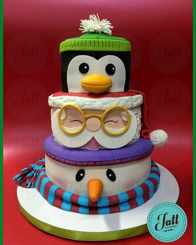 feliz navidad les desea el equipo de jatt gourmet cake