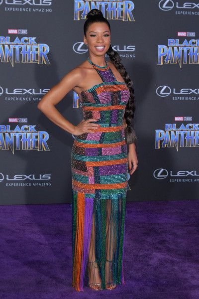 Angel Parker attends the premiere of Disney and Marvel's 'Black Panther' at Dolby Theatre on January 29, 2018 in Hollywood, California. - 62 of 155