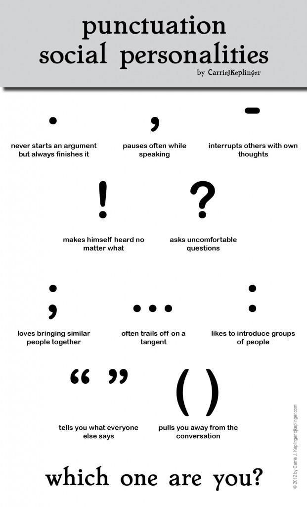 Punctuation Social Personalities