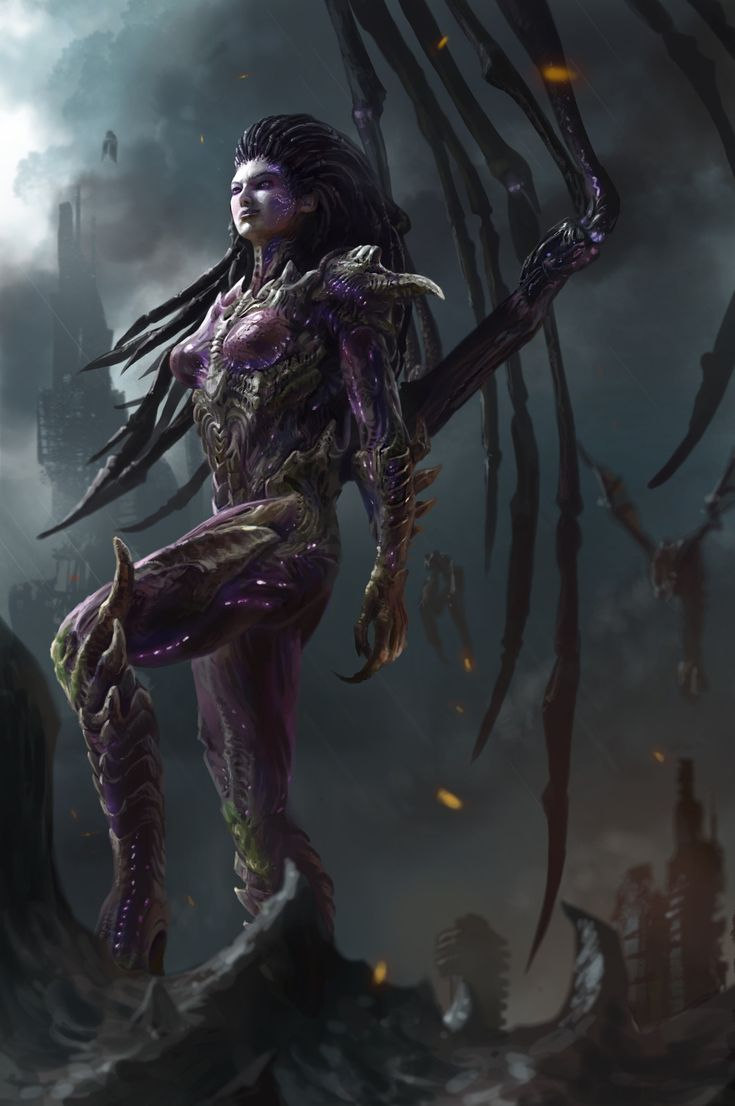 Sarah Kerrigan, 준성 박 on ArtStation at https://www.artstation.com/artwork/XPPEL