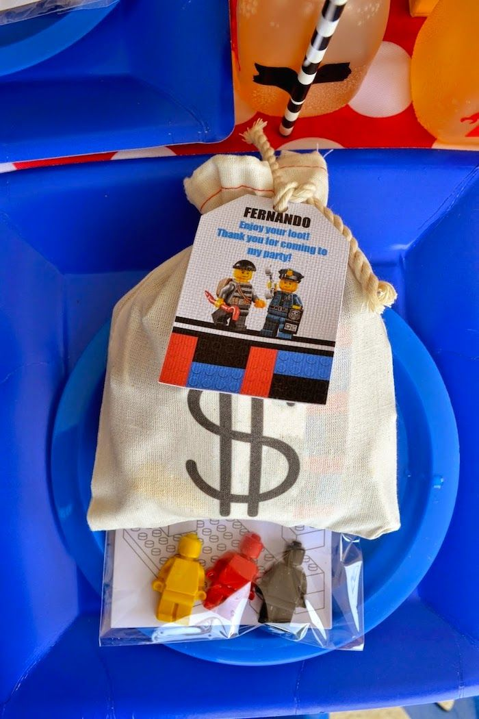 Lego City Police themed birthday party via Kara's Party Ideas…                                                                                                                                                                                 More