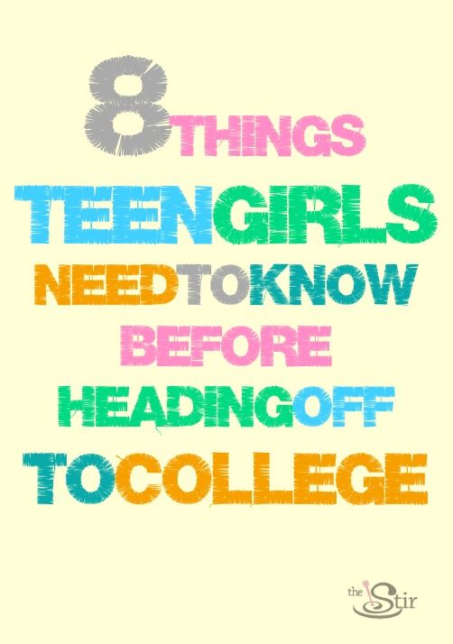 Some great tips for college-bound girls! So simple but I actually wish I'd read this before I went off to college!