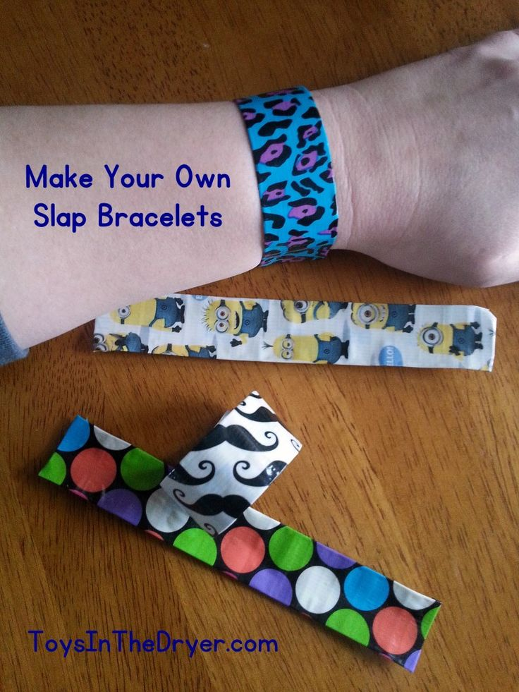 Make Your Own Slap Bracelet - Toys In The Dryer
