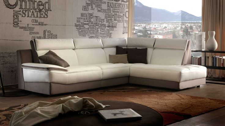 sofá en piel de chateau d'ax. modelo 3789. happy. de madera maciza ... - Puffoletto Chateau D Ax