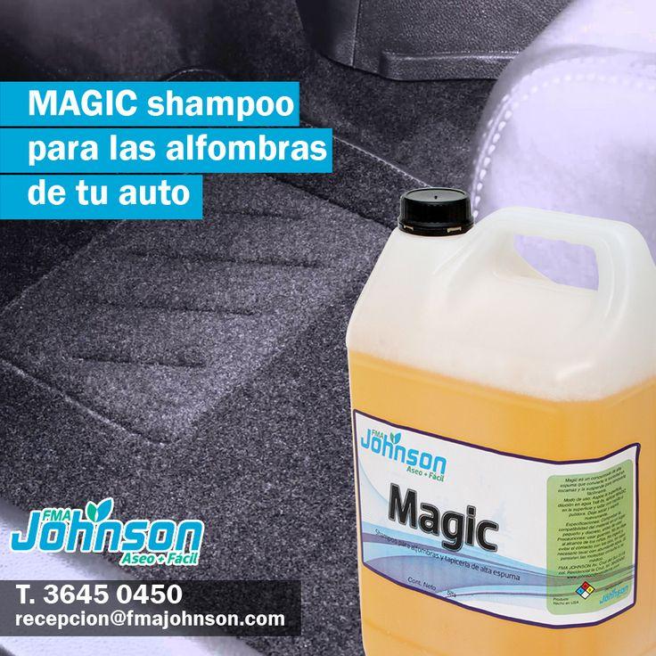 Para las alfombras de tu auto llego:  Shampoo para alfombras y tapicería.  Revitaliza alfombras brindando una solución completa de limpieza. Penetra profundamente para remover la mugre. Su activo neutraliza olores de humo, moho, olor de mascotas entre otros, dejando un olor fresco. Su espuma puede ser retirada con aspiradora. Dilución:1 lt Producto x 8 lts Agua en forma manual o 1 lt producto x 40 lts de Agua para Máquina de inyección succión.