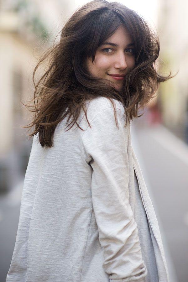 this hair,  via vanessa jackman: Street Fashion, Hair Colors, Long Bangs, Straight Hair, Everyday Hairstyles, Street Style, Paris Street, Hair Style, Paris Style