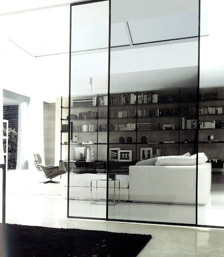 Internal glass sliding door