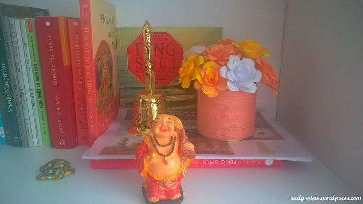 Paper Roses in Yarn Vase