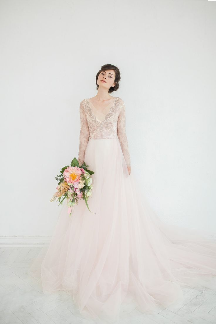 327 best blush weddings images on pinterest blush weddings 30 of the most beautiful long sleeve wedding dresses for 2016 ombrellifo Choice Image